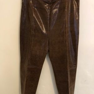 North Beach side zip faux snakeskin leather pants